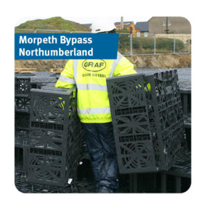 Stormwater Attenuation Tank installed for the Morpeth Bypass in Northumberland