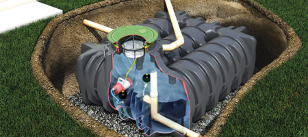 What's the benefits of installing a combined rainwater harvesting and stormwater tank?