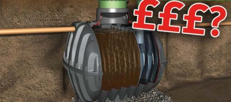 How much does a septic tank typically cost?