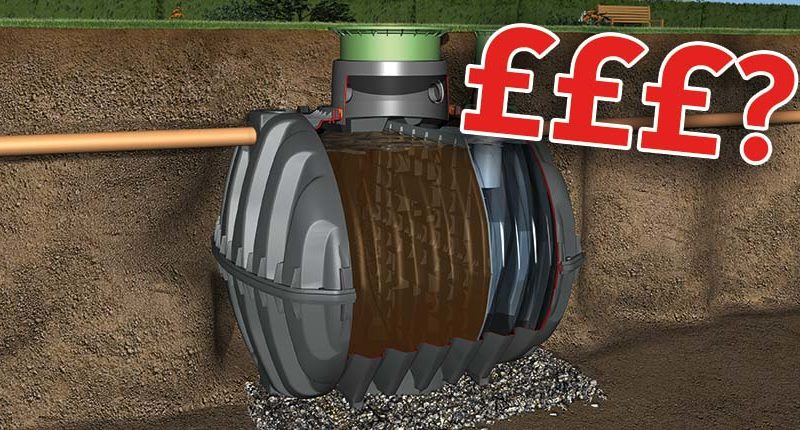 graf septic tank with price tag