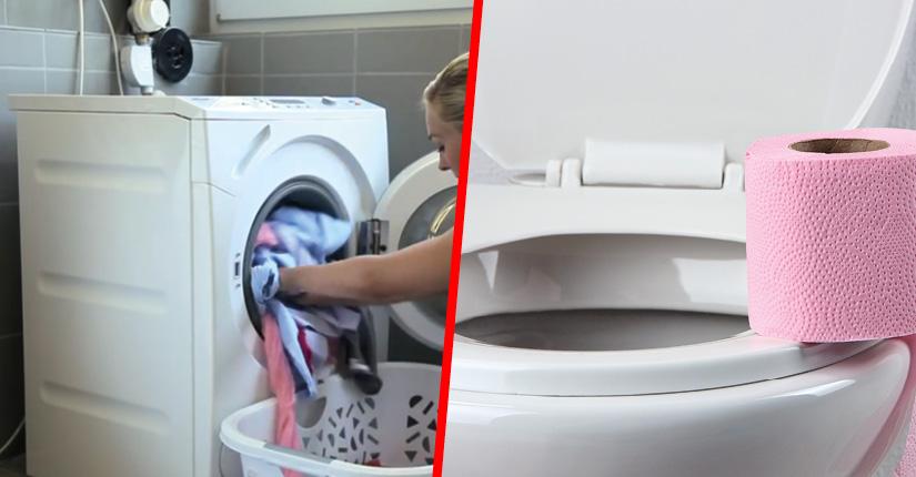 Washing machine and toilet using rainwater